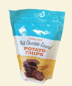 Chocolate covered potato chips... Trader Joe's thy name is evil! Which aisle is the Trader Joe;s caramel sauce in? #traderjoes #food #retail #brands