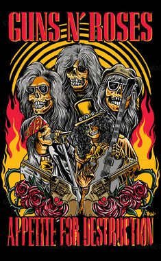 For everything Guns n Roses check out Iomoio Rock Band Posters, Rock Band Logos, Rock Vintage, Vintage Music, Guns And Roses, Rock And Roll Bands, Rock N Roll, Hair Metal Bands, Band Wallpapers