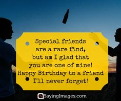 20 Birthday Wishes For A Friend (pin and share!) #sayingimages #birthday #quotes