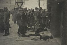 Identification of dead paratroopers in front of the church. On the pavement there are bodies of Adolf Opálka and Josef Valčík. The young man in civilian clothes (in the middle) standing between lying bodies is betrayer Karel Čurda. We Will Never Forget, Catholic Priest, War Photography, Total War, Paratrooper, Pavement, Young Man, World War Ii, Ww2