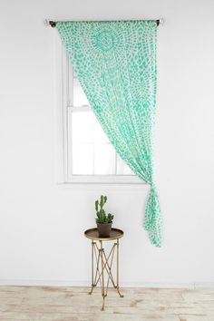Magical Thinking Dotted Medallion Curtain by Urban Outfitters. Swag Curtains, Cute Curtains, Colorful Curtains, Interior Design Inspiration, Room Inspiration, College House, House Inside, House Windows, Home Repairs