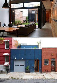 Designer Transforms Tiny Garage Into Incredible Modern Home - TechEBlog