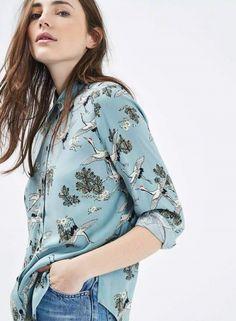 Long Sleeve Printed Button down Fashion Shirt