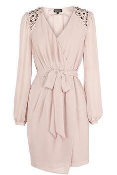 Jewel Shoulder Wrap Dress