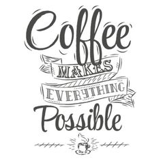 Poster lettering take coffee with you stylized drawing with chalk on coffe makes everything possible fandeluxe Gallery