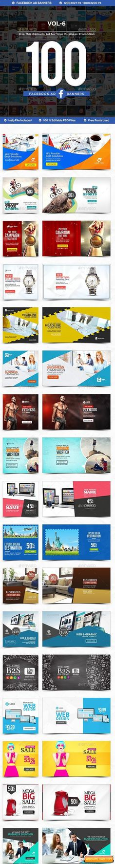 Facebook AD Banners Vol-6 – 50 Designs 18096587 Free Download | Free Graphic Templates, Fonts, Logos & Icons, PSD, AI