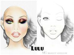 Makeup and Glow Original Face Charts - LULU Design