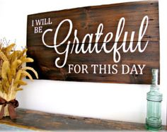 old barn decor | ... This Day- Planked Typography Sign-100 year old Barn Wood Wall Decor