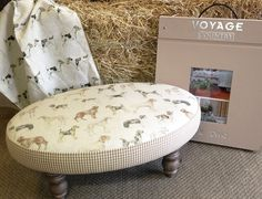 Voyage Footstool - available in a choice of fabrics @ Cotton Tree Interiors UK T: (+44)1728 604700