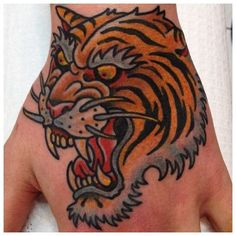 Traditional Tattoos Ideas: Neo Traditional Tiger Head Tattoo ~ tattoosgallerys.com Tattoos ideas Inspiration