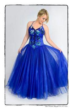 Blue matric farewell dress