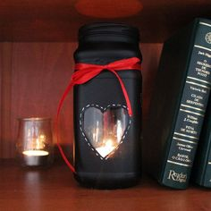 DIY recycled Valentine's day candle jar [with step by step video]