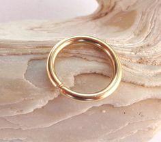 14K Solid Gold Septum RingNose RingDaith by PavlosHandmadeStudio