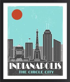 Indianapolis Skyline Poster by FlyGraphics on Etsy, $17.00