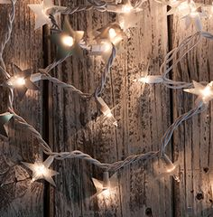 Enhance twinkle lights with paper stars