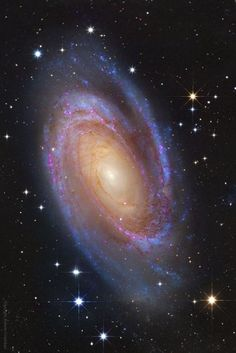 Spiral Galaxy M81 : One of the brightest galaxies in planet Earths sky is similar in size to our Milky Way Galaxy: big, beautiful M81. This grand spiral galaxy can be found toward the northern constellation of the Great Bear (Ursa Major). This superbly detailed view reveals M81s bright yellow nucleus, blue spiral arms, and sweeping cosmic dust lanes with a scale comparable to the Milky Way. Hubble/NASA.