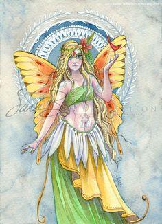 Belly Dancer Fairy Art Prints Set of 2 Jewel and por sarambutcher