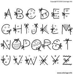 coloriage christmas alphabet imprimer noel Coloriage alphabet noel christmas à imprimerYou can find Best makeup brushes and more on our website Caligraphy Alphabet, Hand Lettering Alphabet, Doodle Lettering, Lettering Styles, Calligraphy Letters, Doodle Alphabet, Chalk Typography, Vintage Typography, Alphabet Letters