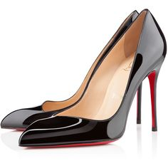 Christian Louboutin Corneille ($675) ❤ liked on Polyvore featuring shoes, pumps, heels, christian louboutin, louboutin, black, high heel shoes, christian louboutin pumps, pointy-toe pumps and pointed-toe pumps