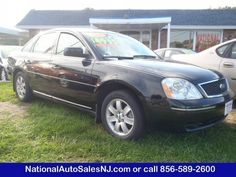 Model: 2006 Ford Five Hundred   Price: $4,995   COLOR    Black /Pebble Tan    MILES    159,156    Engine    3.0 V6    Trans    CVT Transmission    Stock #    S061986    VIN    1FAFP261X6G181986    Call National Auto Sales today: (856) 589-2600     Ask for Bill