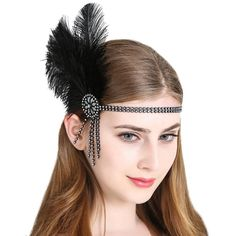 Antique Styles Created with Cubic Zirconia - Jewelry Daze Gatsby Headpiece, Gatsby Headband, Fascinator Headband, Diy Headband, Fascinators, Headbands, Fancy Dress Accessories, Hair Accessories, Costume Accessories