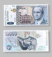 10.000 Pesetas de la Antigua Moneda Española - Money Made in Spain