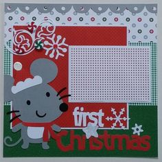 Baby's First Christmas  Baby  Christmas  premade by ohioscrapper