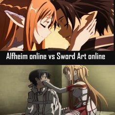 I still think they're cuter in SAO but you know whatever. And what is up with Kirito in GGO? Like da fuq game?