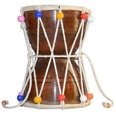 Handmade Indian Musical Instrument Shiva Drum Damroo