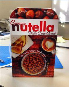 Nutella Waffle Crisp Cereal