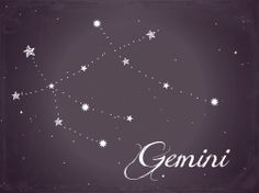 Gemini, cards for table number constellations