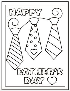 Free Printable Father's Day Coloring Sheets - It's in the Cards