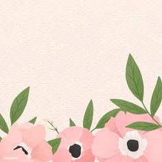 Pink floral frame design vector | premium image by rawpixel.com / Aum Cute Wallpaper Backgrounds, Flower Backgrounds, Cute Wallpapers, Cherry Blossom Background, Free Hand Drawing, Butterfly Wallpaper, Floral Illustrations, Flower Frame, Background Patterns