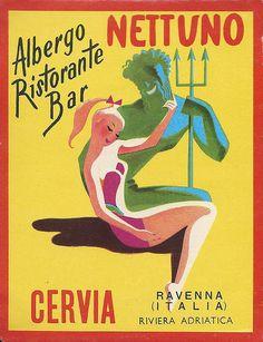 Albergo Ristorante Bar, Nettuno, Cervia, Ravenna, Italia, Riviera Adriatica