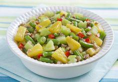 Guisadong Gulay at Piña (Party) Del Monte Recipes, Filipino Recipes, Filipino Food, Vegetable Recipes, Fruit Salad, Cantaloupe, Potato Salad, Nom Nom, Main Dishes