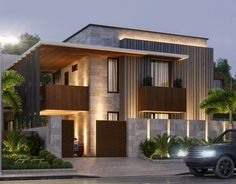 Atam Nagar Option This house is going to be my dream 🏡. Modern Exterior House Designs, Modern Architecture House, Modern House Plans, Modern House Design, Exterior Design, Architecture Design, Architecture Supplies, Architecture Portfolio, Security Architecture