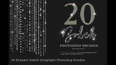 20 String Light Bokeh Brushes