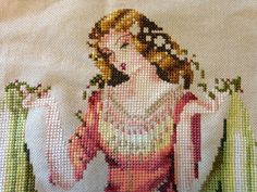"I am currently working on ""Forest Goddess"" by Mirabilia. Cross Stitch Gallery, Cross Stitch Supplies, Currently Working, Cross Stitching, Fabric Patterns, Cross Stitch Patterns, Needlework, Embroidery, Painting"