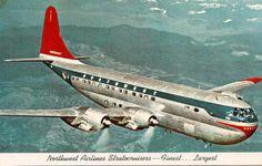 Vintage card - Northwest Airlines Boeing Stratocruiser