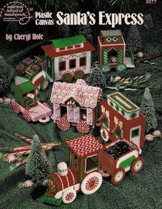 Santa's Express Christmas Train American School of Needlework Plastic Canvas Pattern Booklet #3077
