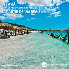 Confira valores promocionais para viajar para o Ceará nos feriados de 2015!    Datas e promoções no site:  https://www.passagemaerea.com.br/fortaleza-feriados-2015.html   #fortaleza #ceara #passagemaerea #viagem #ferias #jericoacoara