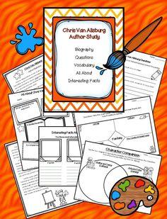 Chris Van Allsburg Author study with FIVE literature studies!  https://www.teacherspayteachers.com/Product/Chris-Van-Allsburg-Author-and-Book-Study-Bundle-2002299