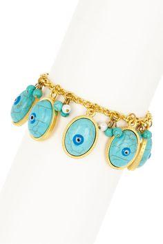 Evil Eye Turquoise Charm Bracelet