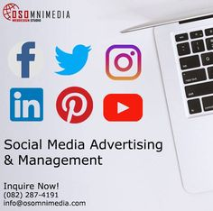 Social media advertising can help your business if it is engaged in business-to-consumer, business-to-business, or e-commerce. It is a platform to help you reach your target audience all around the world.  Our team is adept at creating advertisements and marketing on these social media platforms. Such as...  - Facebook - Twitter - Instagram - LinkedIn - Pinterest - Youtube  Need more information? Talk to Us…We're here to help you.  Contact Us Now! Email: info@osomnimedia.com Advertising, Ads, Competitor Analysis, Target Audience, Platforms, Ecommerce, Promotion, Web Design, Management