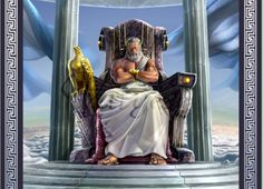 Zeus (Jupiter) - Greek God - King of the Gods and men. Zeus was the top god of the pantheon of the Olympians and the supreme god of the ancient Greeks. Zeus Greek Mythology, Greek Gods And Goddesses, Zeus E Hera, Zeus Jupiter, Roman Gods, Ange Demon, Ancient Greece, Mythical Creatures, Mount Olympus