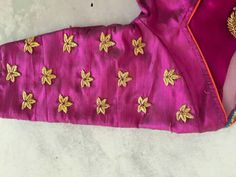 Embroidery Stylish Blouse Design, Fancy Blouse Designs, Blouse Neck Designs, Pattu Saree Blouse Designs, Kurta Designs, Blouse Desings, Maggam Work Designs, Work Blouse, Sarees