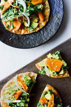 Flat Bread Pizzas with Avocado and Roasted Carrots — JOYLICIOUS