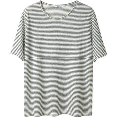 T by Alexander Wang Striped Jersey Tee ($98) ❤ liked on Polyvore featuring tops, t-shirts, shirts, tees, women, tee-shirt, jersey shirt, short-sleeve shirt, t shirt and short sleeve t shirts