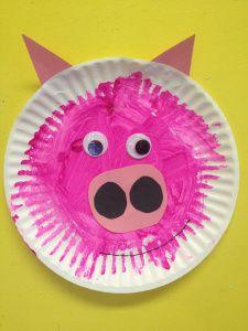Pig paper plates