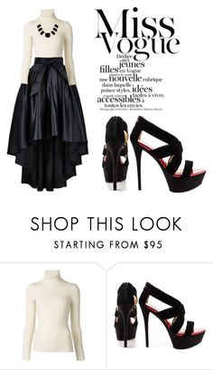"""monochrome"" by monicyln on Polyvore featuring Emanuel Ungaro, Paris Hilton and House of Harlow 1960"